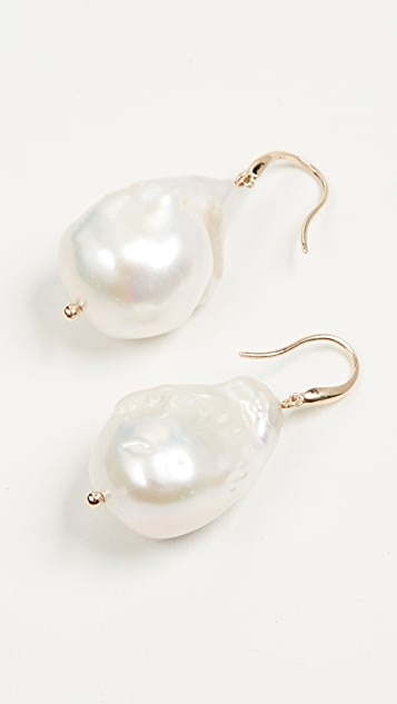 Mateo 14k Gold Baroque Pearl Drop Earrings