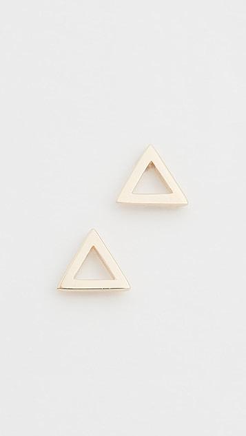 Mateo 14k Mini Triangle Studs
