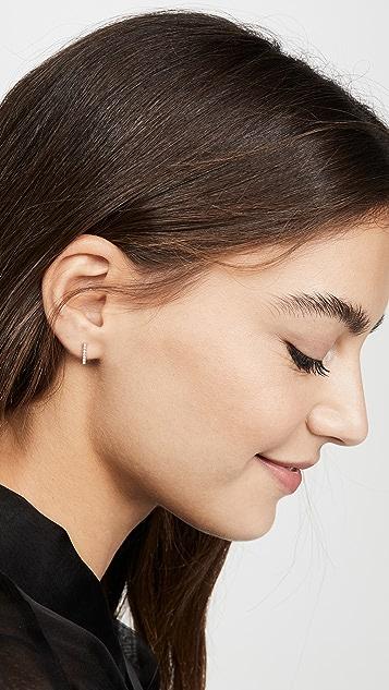 Mateo 14k Mini Diamond Bar Earrings