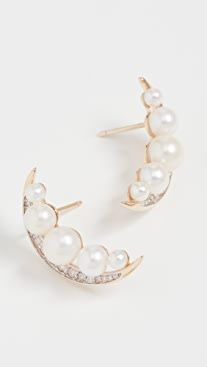 Mateo 14k Crescent Moon Earrings