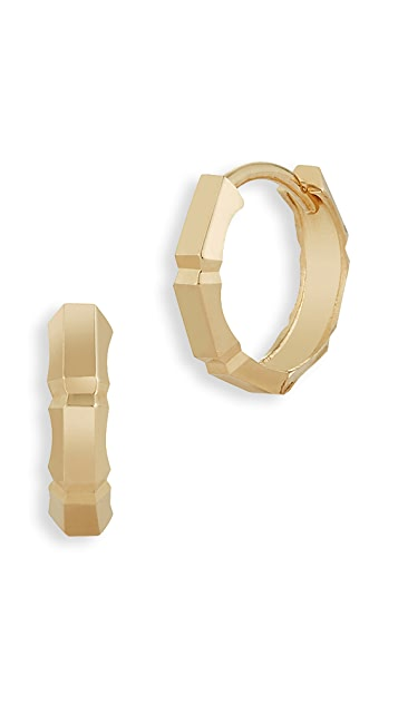 Mateo 14k Faceted Huggie Earrings gY5MWdcJ