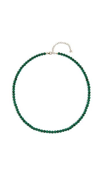 Mateo 14k Malachite Beaded Choker - 4mm Beads