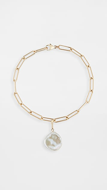 Mateo 14k 巴洛克珍珠圆形长链式手链
