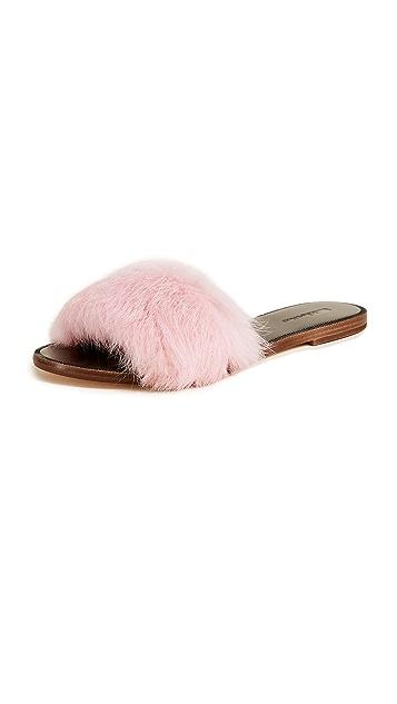 Matiko Pom Pom Fur Slides