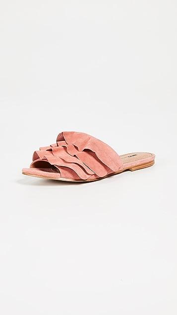 Matiko Roselyn Ruffled Sandals - Peach