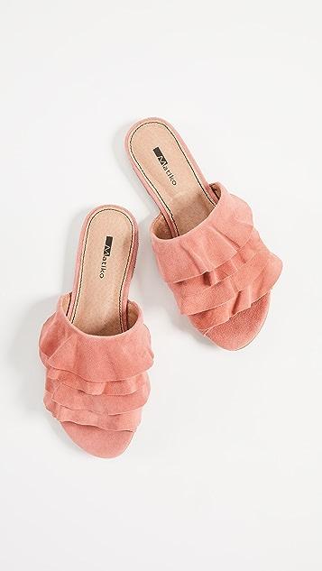 Matiko Roselyn Ruffled Sandals