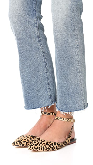 Matt Bernson Обувь на плоской подошве Zola из кожи с коротким ворсом