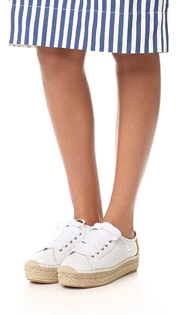 Matt Bernson Eze Leather Espadrille Sneakers
