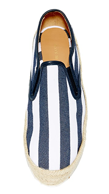 Matt Bernson Azure Platform Espadrille Slip On Sneakers