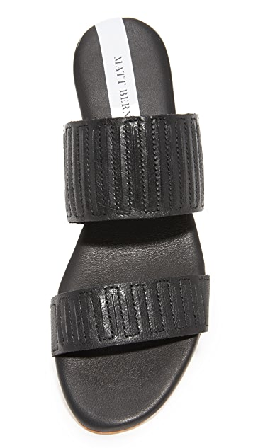 Matt Bernson Merit Demi Wedge Slides