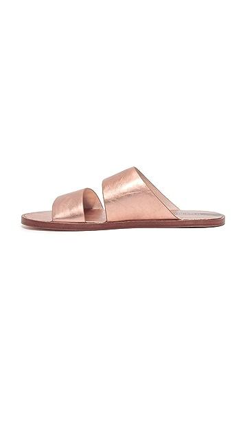 Matt Bernson Havana Metallic Slide Sandals