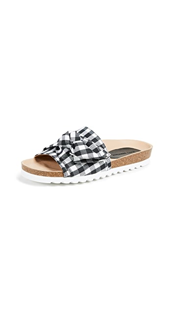 Matt Bernson Sunshine Gingham Slides