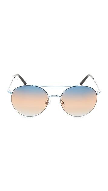 Matthew Williamson Round Aviator Sunglasses