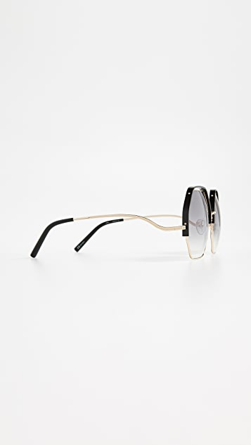 Matthew Williamson Geometric Sunglasses