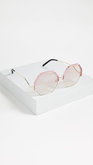 Matthew Williamson Geometric Sunglasses