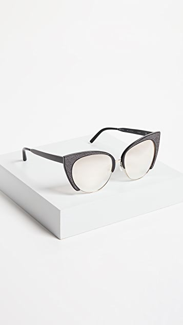 Matthew Williamson Glitter Cat Eye Sunglasses