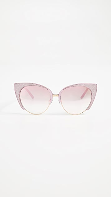 Matthew Williamson Glitter Cat Eye Sunglasses