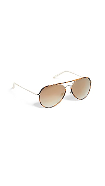 Matthew Williamson Classic Aviator Sunglasses