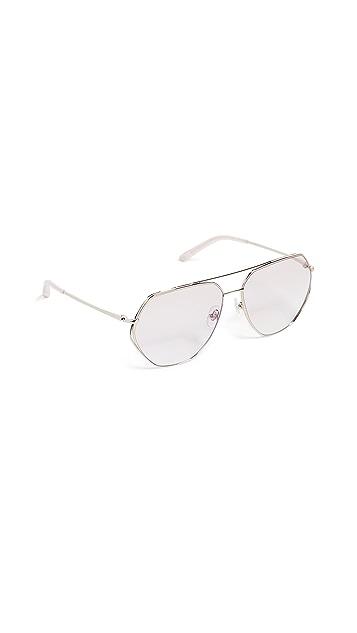 Matthew Williamson Pink Aviator Sunglasses