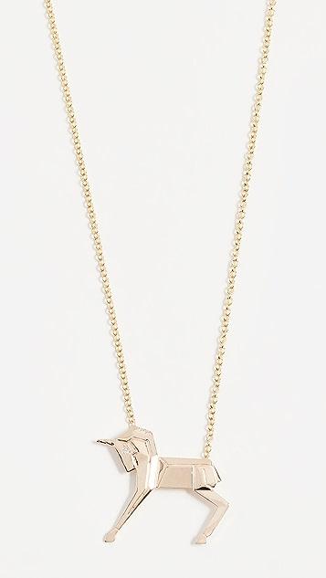 Mas Bisjoux 14K Gold Mini Unicorn Necklace - Gold