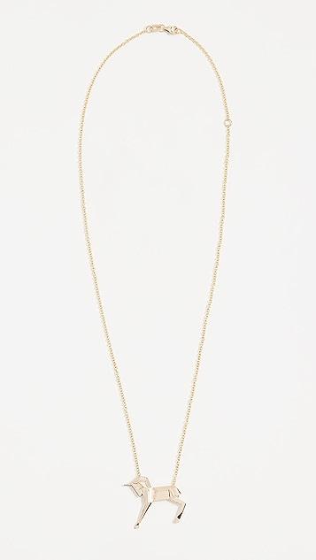 Mas Bisjoux 14K Gold Mini Unicorn Necklace