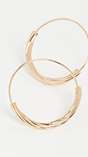 Maria Black Tove 30 Hoop Earrings