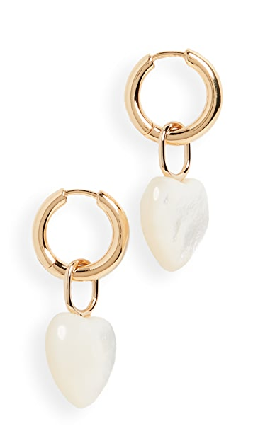 Maria Black Polo Mother Heart Earrings