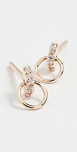 Maria Black - Lila Diamond Hoop Studs