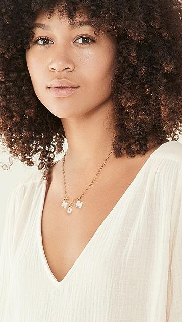 Maria Black Mom Necklace