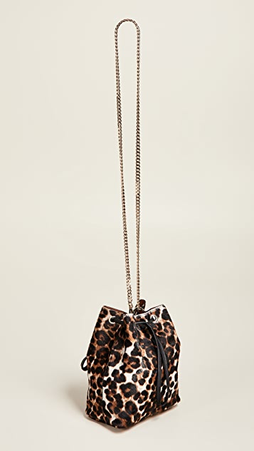 Maison Boinet Large Leopard Bucket Bag