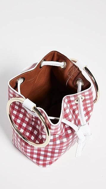 MaisonBoinet Маленькая сумка-ведро в клетку гингем