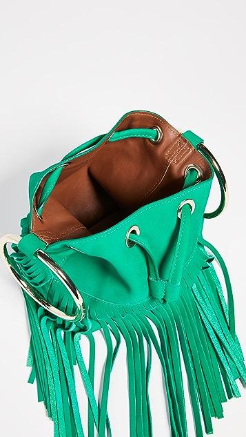 MaisonBoinet Маленькая сумка-ведро с бахромой