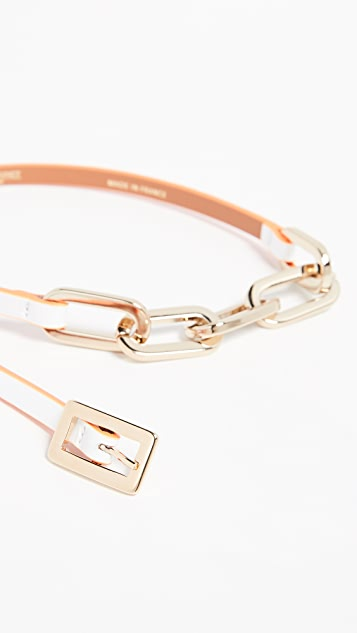 Maison Boinet 7mm Leather Color Contrasting Belt