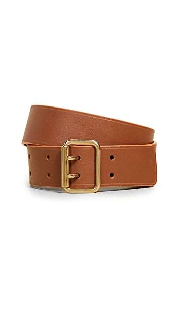 Maison Boinet 30mm Color Contrasting Leather Belt