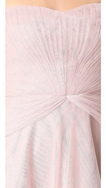 Monique Lhuillier Bridesmaids Strapless Sweetheart High Low Dress