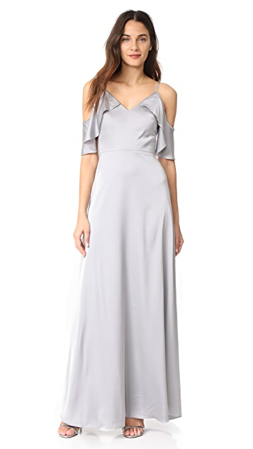 Monique Lhuillier Bridesmaids Gown - Slate
