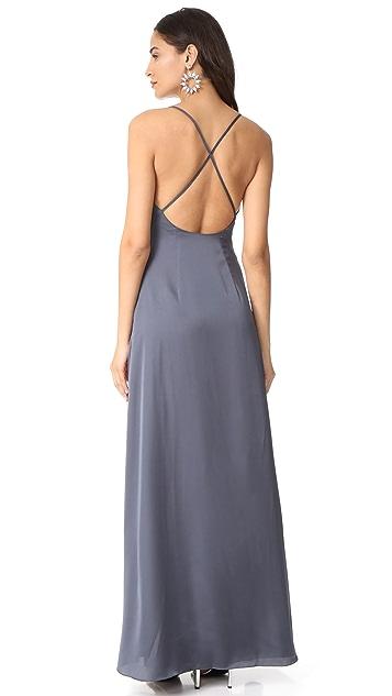 Monique Lhuillier Bridesmaids Sateen Slip Gown