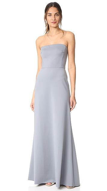 Monique Lhuillier Bridesmaids Strapless Gown - Sea