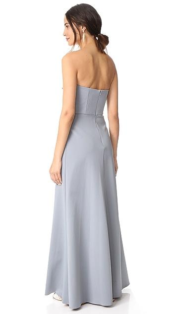 Monique Lhuillier Bridesmaids Strapless Gown
