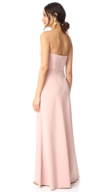 Monique Lhuillier Bridesmaids Strapless Gown