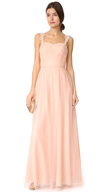Monique Lhuillier Bridesmaids Tulle Gown