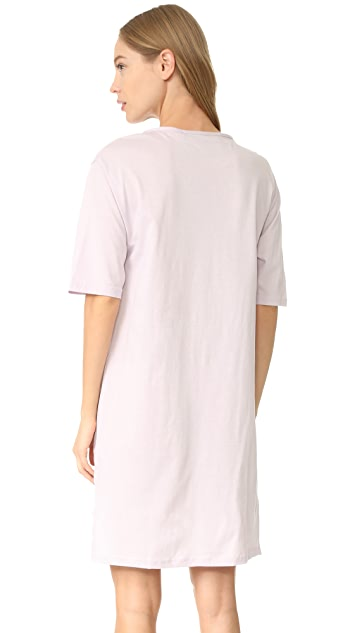 Michaela Buerger Pink Flamingo T-Shirt Dress