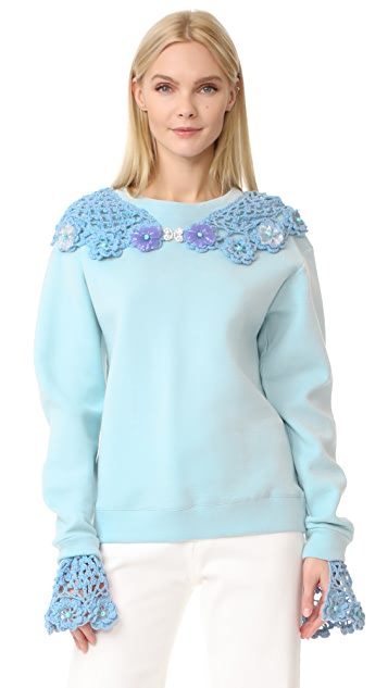 Michaela Buerger Collar Sweatshirt
