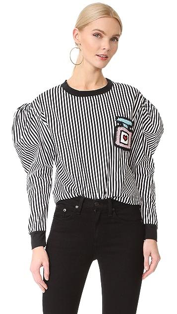 Michaela Buerger Puff Sleeve Sweatshirt