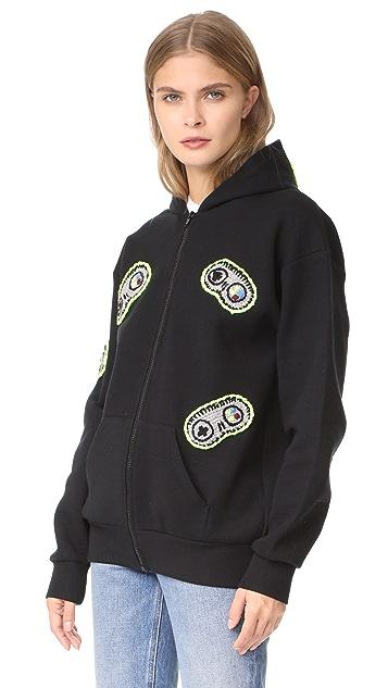 Michaela Buerger Hooded Sweatshirt with Game Controls