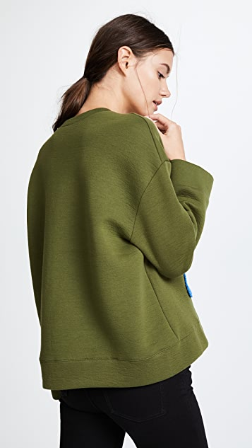 Michaela Buerger Dog Walking Oversize Sweatshirt
