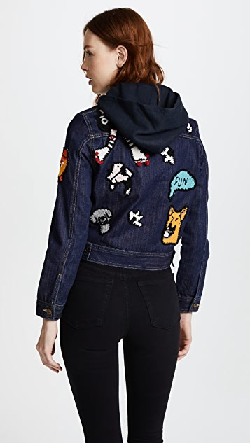 Michaela Buerger I Love My Dog Denim Jacket