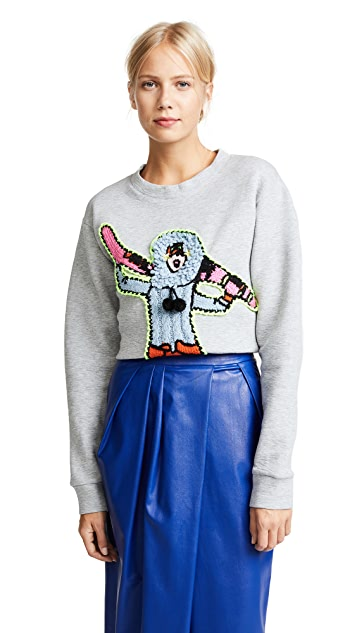 Michaela Buerger Skiing Girl Sweatshirt