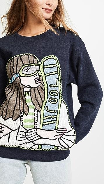 Michaela Buerger Skiing Girl Sweatshirt