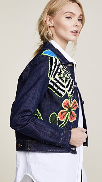 Michaela Buerger Funky Flowers Denim Jacket